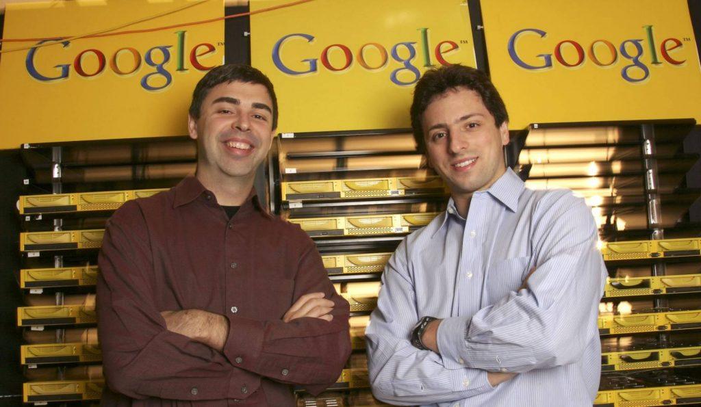 Larry Page y Sergey Brin - 30º aniversario de Internet